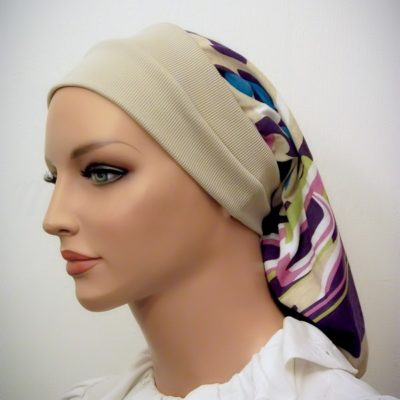 Beige Headband Snood