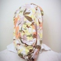 Cream Floral Headband Snood