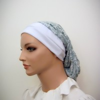 Green White Paisley Snood
