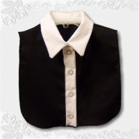 Black Cotton Sateen White Swirls Collar1