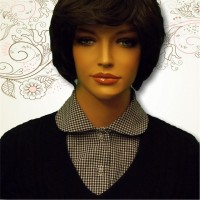 Black Gingham Seersucker Rounded Collar10