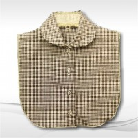 Black Gingham Seersucker Rounded Collar9