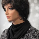 Black Jersey Knit Multi Drape Modest Cowl Collar Dickeys2