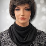Black Jersey Knit Multi Drape Modest Cowl Collar Dickeys3