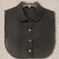 Black Rounded Convertible Collar Dickey1