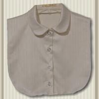 Cream Pinstripe Cotton Sateen Peter Pan Collar Dickey1