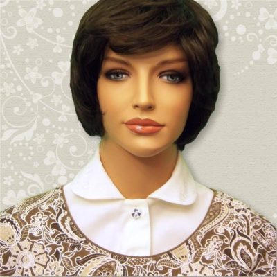 Ivory Embroidered Eyelet Rounded Collar Dickey 02