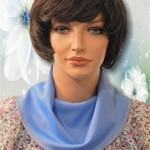 KosherPatterns Light Blue Knit Cowl Collar Dickey1