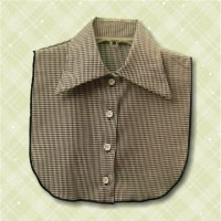 KosherPatterns Pointed Collar Dickey Black Gingham1
