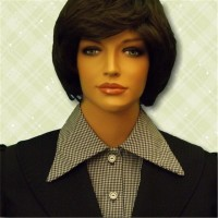 KosherPatterns Pointed Collar Dickey Black Gingham3