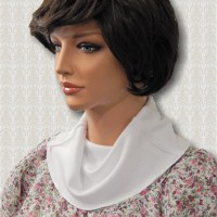 KosherPatterns White Double-Knit Cowl Collar Dickey2