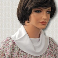 KosherPatterns White Double-Knit Cowl Collar Dickey3
