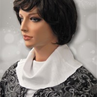 KosherPatterns White Pointelle Knit Cowl Collar Dickey Side Seams2