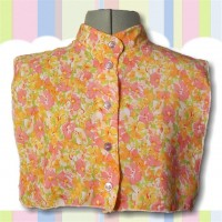Orange Floral Mandarin Collar1