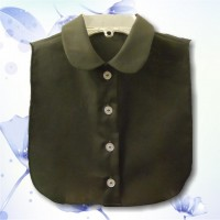 Peter Pan Collar Solid Black Dickey2