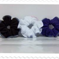 Purple-White-Brown Scrunchy1
