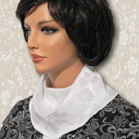 White Jacquard Cowl Collar Dickey2