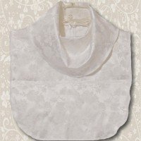White Jacquard Cowl Collar Dickey5