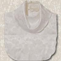 White Jacquard Cowl Collar Dickey5