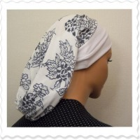 White Lined Floral Snood4