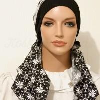 2015 Black Cotton Daisies Lace Headband_08