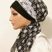 2015 Black Cotton Daisies Lace Headband_10