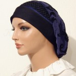 2015 Blue Periwinke Slinky Snood Beret_07