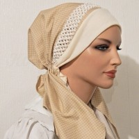 2015 Cream Houndstooth Braided Elastic Trim HEadband_05