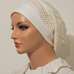 2015 Ivory Cotton Chenille Snood Berete_01