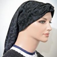 Twisted Headband Blue Floral Paisley