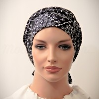 100% Cotton Moriya Snood Beret with Ties