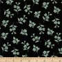 Michael Miller Spring Fling Tossed Floral Black Mint