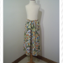 Girls Peach-White Garden Print Flair Skirt2