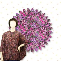 Polyester Fabric Purple Floral
