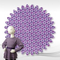 Purple Geometric Rayon Fabric1