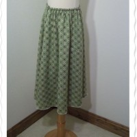 Womens Green-Purple Flair Skirt1
