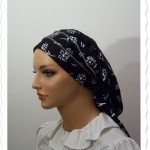Black Floral Flatlock Snood6