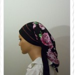 Black Purple Rose Black Headband Flatlock Snood2