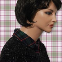 Blue Green Flannel Peter Pan Collar Dickey 03