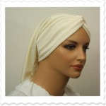 Cream Heart Knotted Headband Snood3