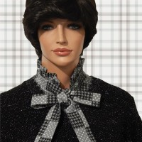 Dots Houndstooth Bow Tie Frill Dickey 02