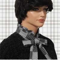 Dots Houndstooth Bow Tie Frill Dickey 03