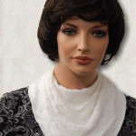KosherPatterns White Laced Multi Drape Knit Cowl Collar Dickey4