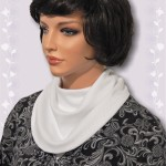 KosherPatterns White Pointelle Knit Multi Drape Cowl Collar Dickey2