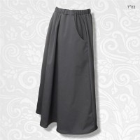 Modest A-line Gathered Skirt Curve Inset Pocket 02