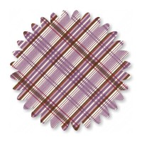 Purple Diagonal Plaid Cotton 1