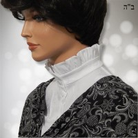 White Frill Collar Embroidered Cotton Dickey 6