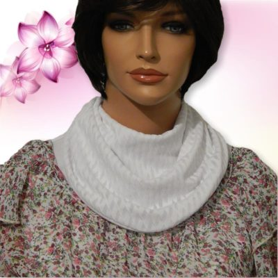 White Textured Cowl Collar Dickey 03