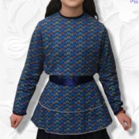 Extended Waist Flounce Skirt Blouse 09