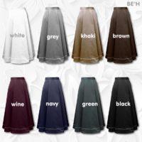 Fabrics Front Pleated Aline Skirt 01